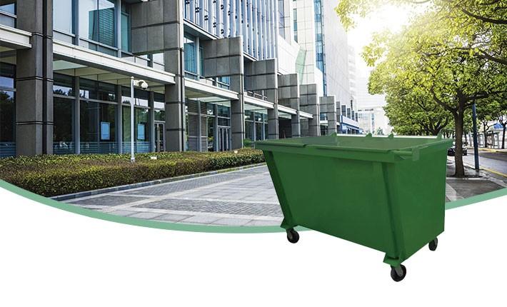 Container de Lixo Metálico