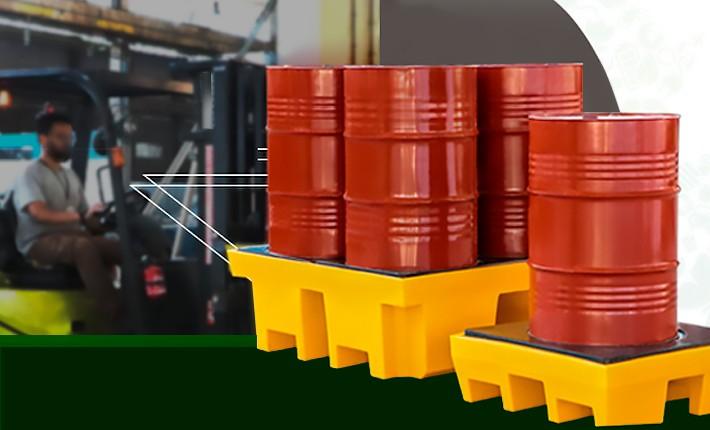 Pallets de contenção para industrias