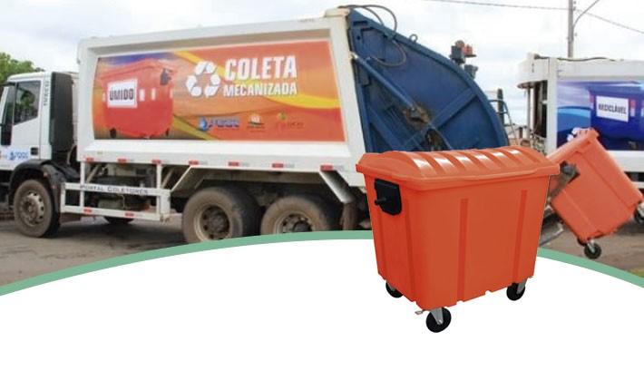 Containers para coleta mecanizada